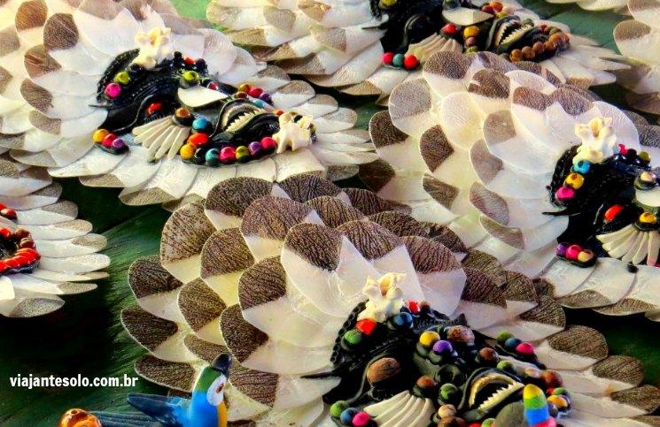 Pescar Pirarucu Artesanato com Escamas | Viajante Solo