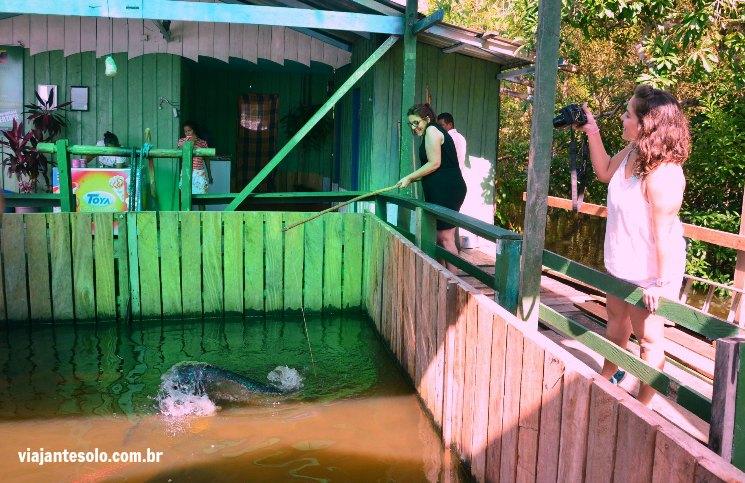 Pescar Pirarucu Denise e Dalila | Viajante Solo
