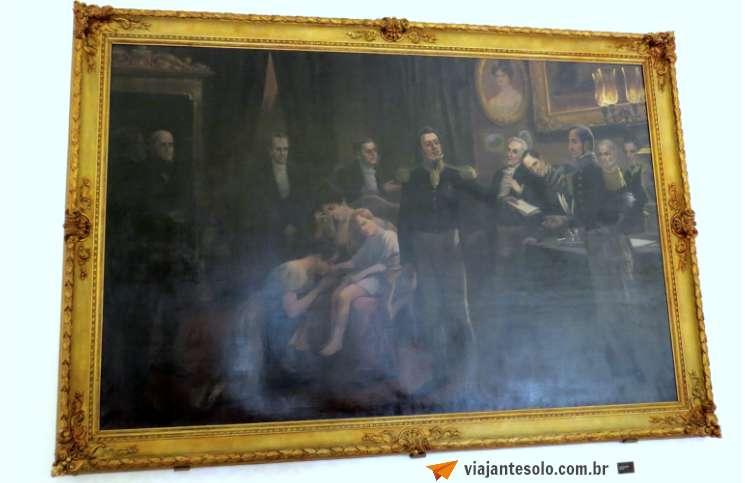 Palacio Guanabara Quadro Abdicação de D. Pedro I | Viajante Solo