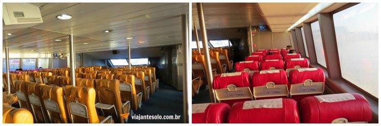 Seacat Interior do Barco Viajante Solo