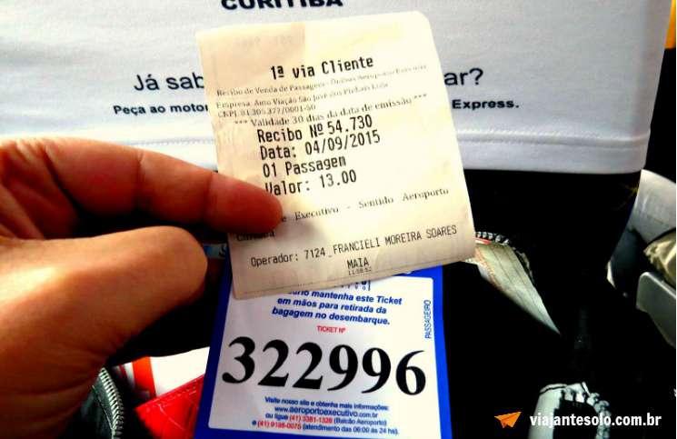 Transporte Aeroporto Executivo Curitiba Ticket | Viajante Solo