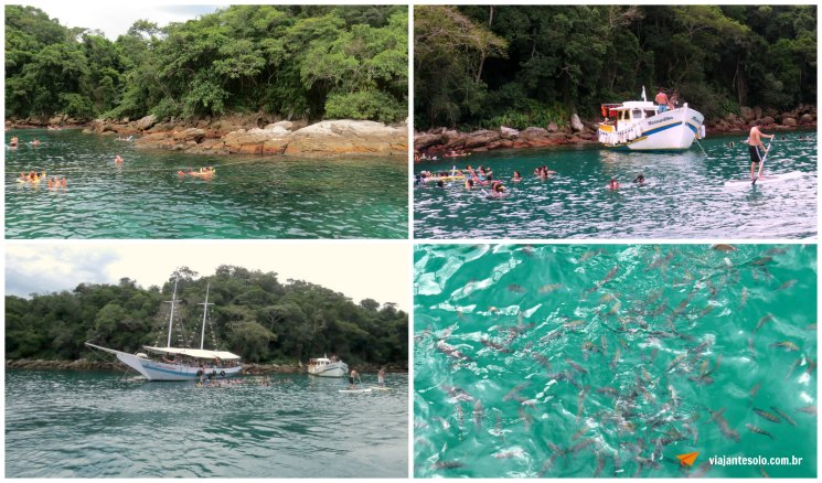Ilha Grande Lagoa Azul Colagem de Fotos | Viajante Solo