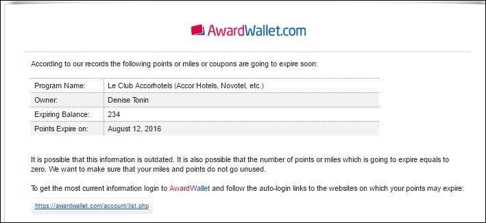 AwardWallet Email | Viajante Solo