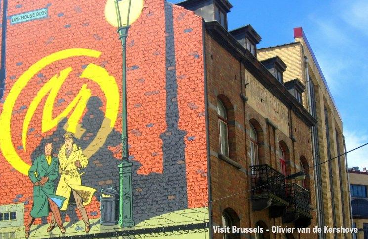 Bruxelas Mural Blake e Mortimer | Viajante Solo