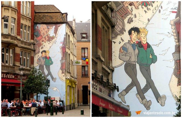 Bruxelas Mural Brousaille | Viajante Solo