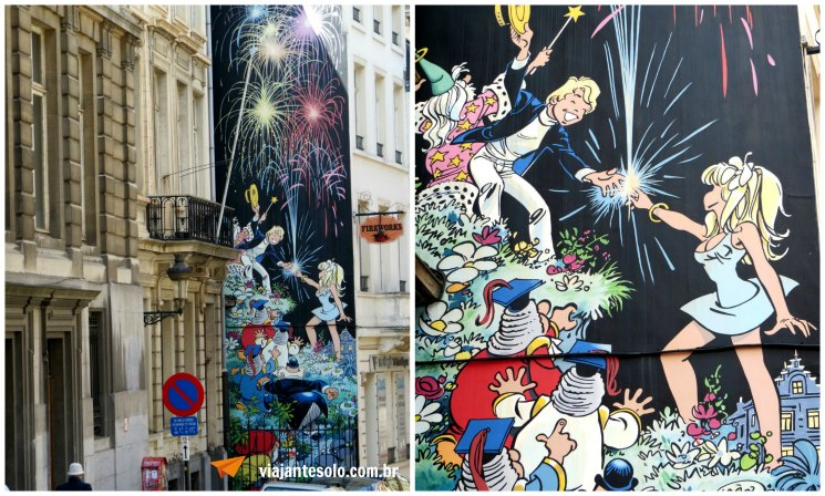 Bruxelas Mural Olivier Rameau | Viajante Solo