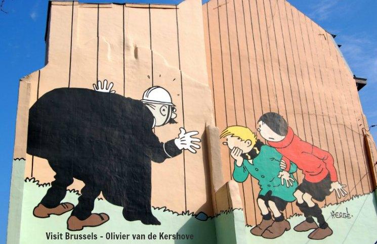 Bruxelas Mural Quick e Flupke | Viajante Solo