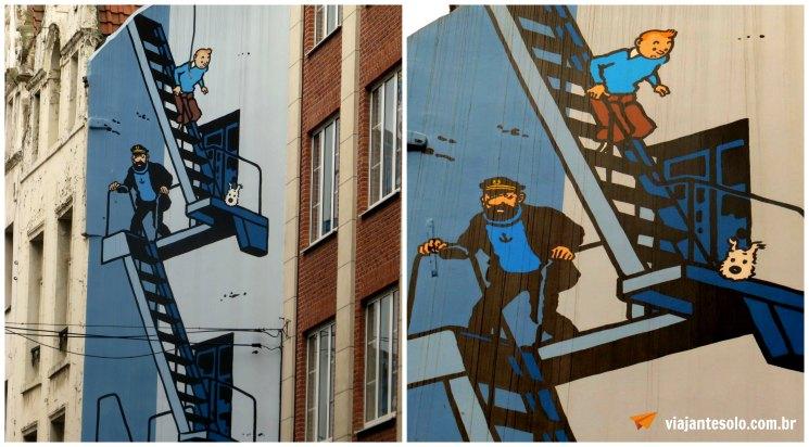 Bruxelas Mural Tintin | Viajante Solo