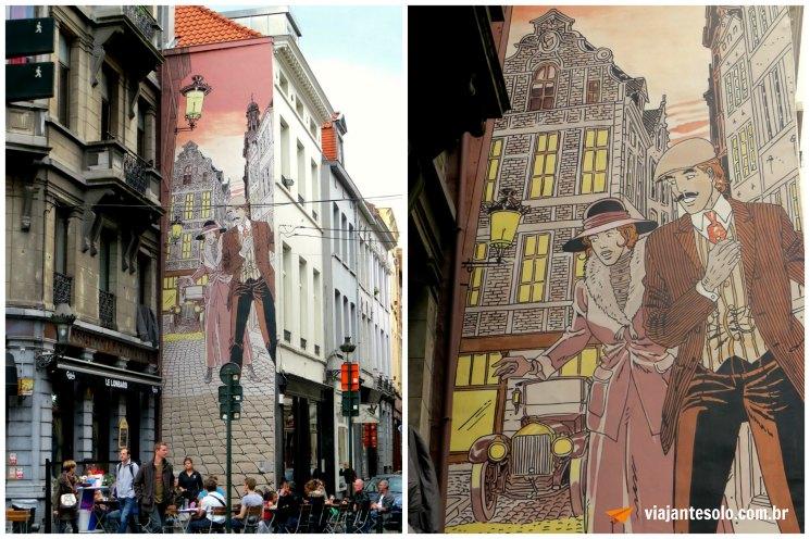 Bruxelas Mural Victor Sackville | Viajante Solo