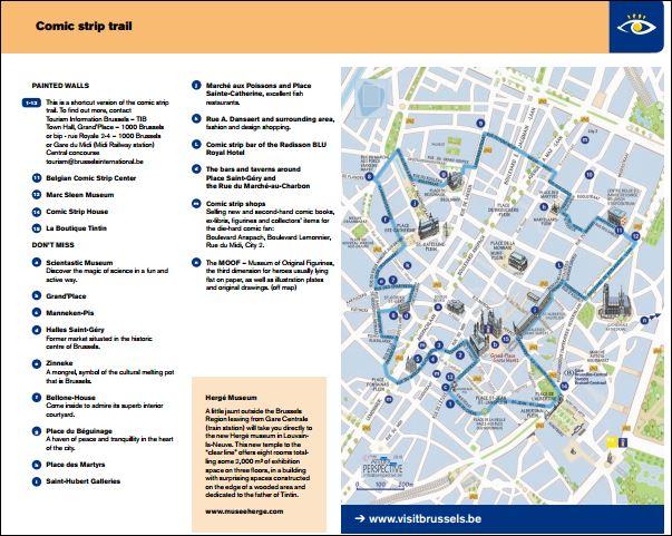 Mapa Resumido Visit Brussels | Viajante Solo