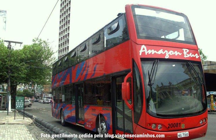 65159a3d8 Para quem tem pouco tempo na cidade de Manaus e quer ter uma visão geral da  cidade, a melhor opção é, sem dúvida, pegar o ônibus turístico Amazon Bus,  ...