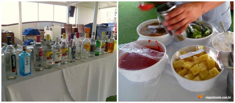 Cruzeiro Pelo Rio Negro Drinks no Deck | Viajante Solo