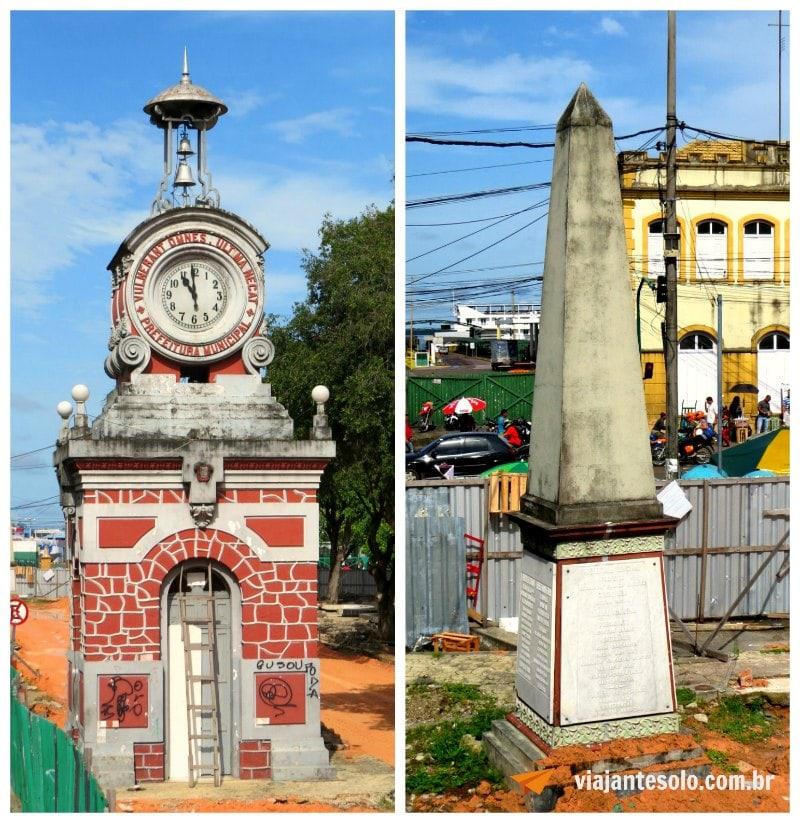 Manaus Relogio Municipal e Obelisco | Viajante Solo