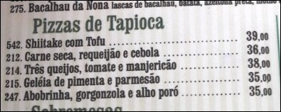 Bar do Horto Pizza de Tapioca | Viajante Solo
