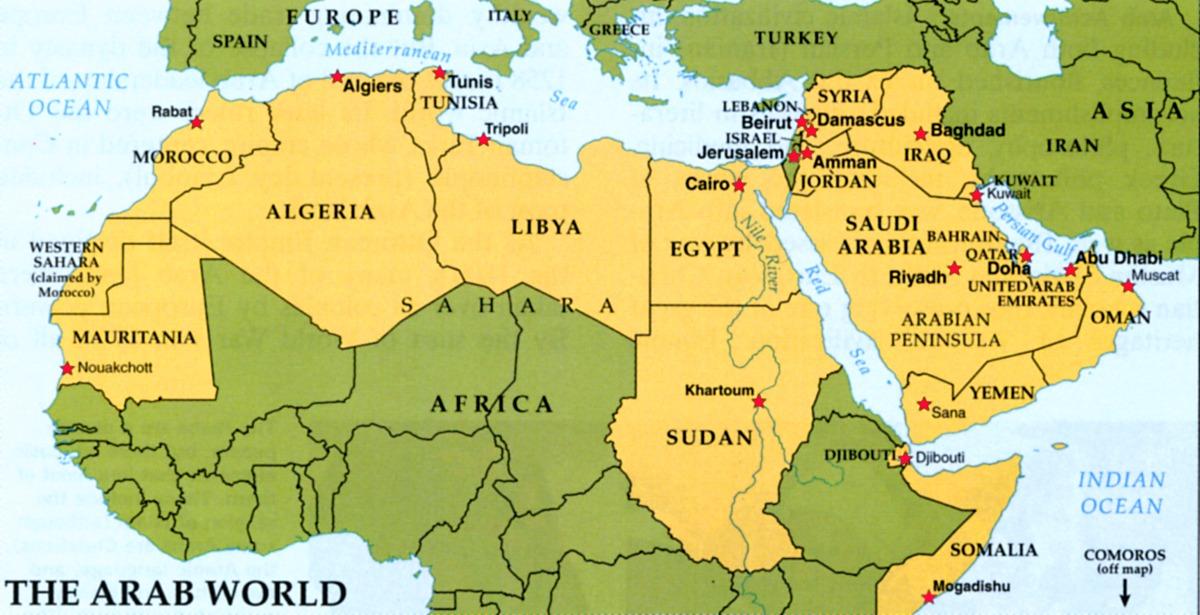 sozinha no Oriente Medio Mapa