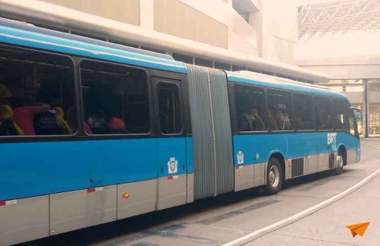 como ir do aeroporto internacional para a Zona sul Frescao BRT