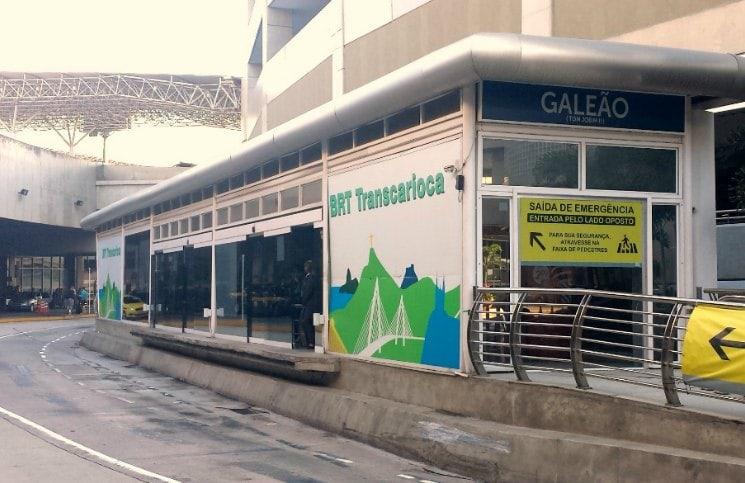 como ir do aeroporto internacional para a Zona sul Estação BRT