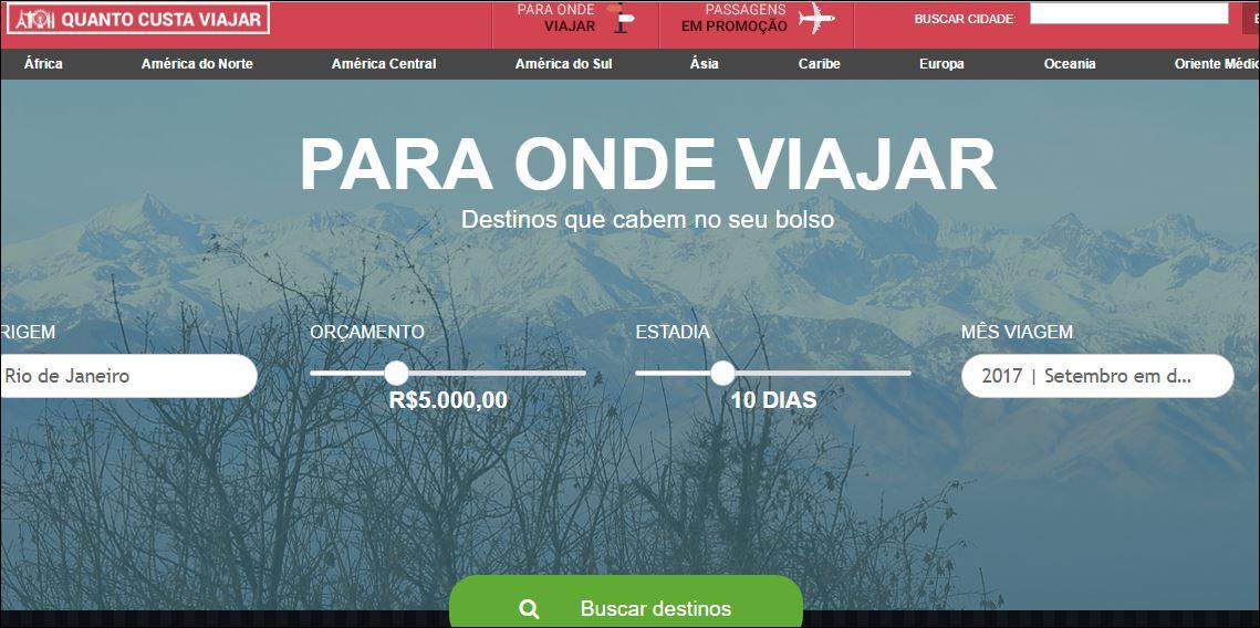 Quanto Custa Viajar Sozinha Tela Para Onde Viajar