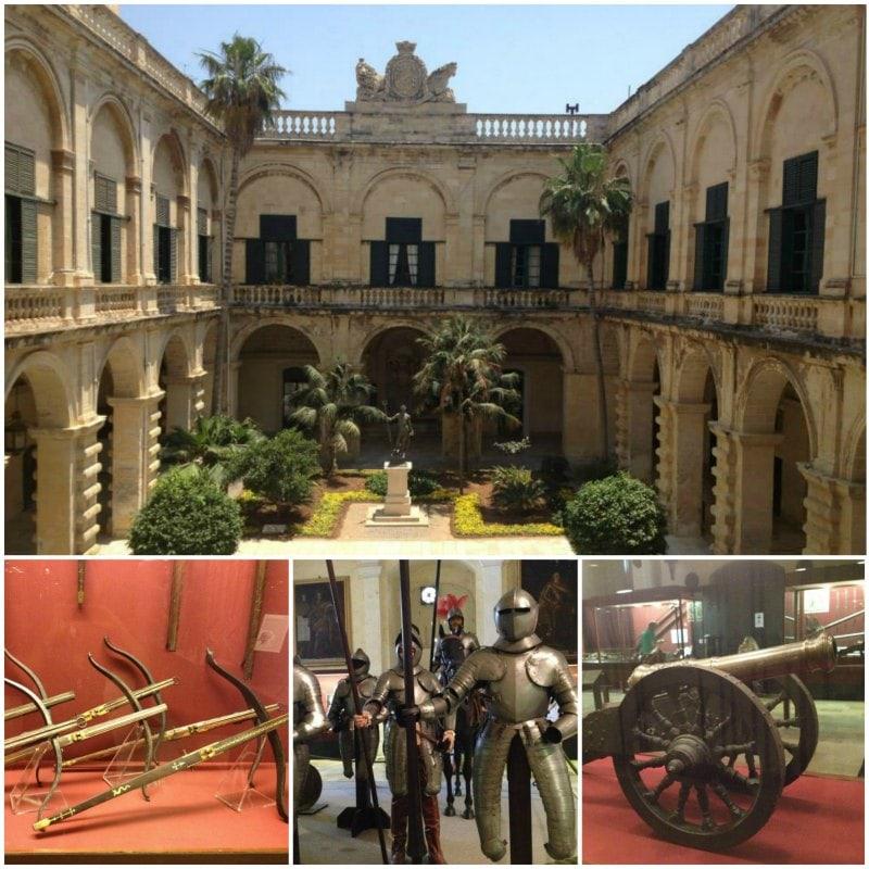 Sozinha em Malta Armoury Museum