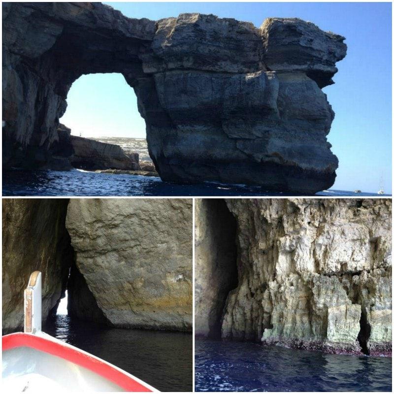 Sozinha em Malta Blue Grotto e Azure Window