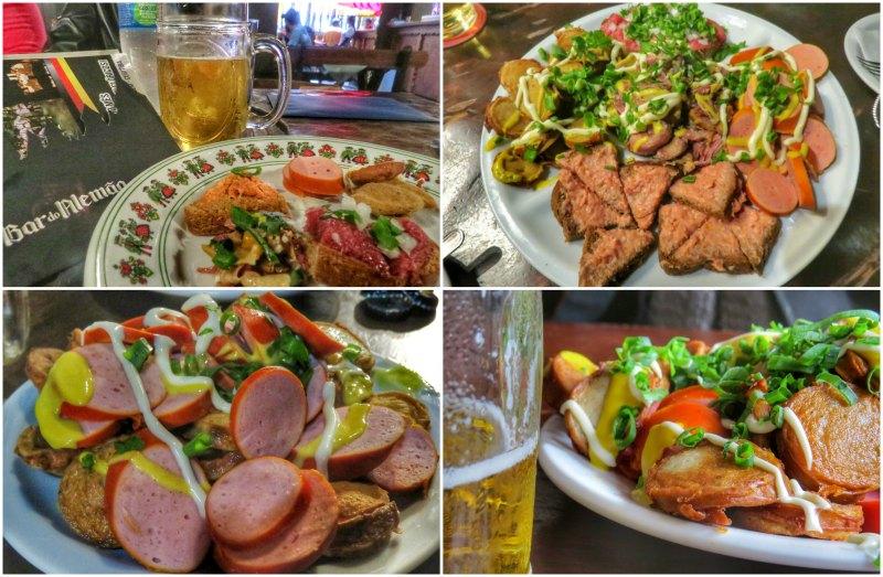 Carne de Onça e Submarino no Bar do Alemão Aperitivos | Viajante Solo