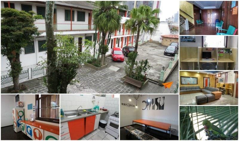 Hostel em Curitiba Roma Áreas Comuns