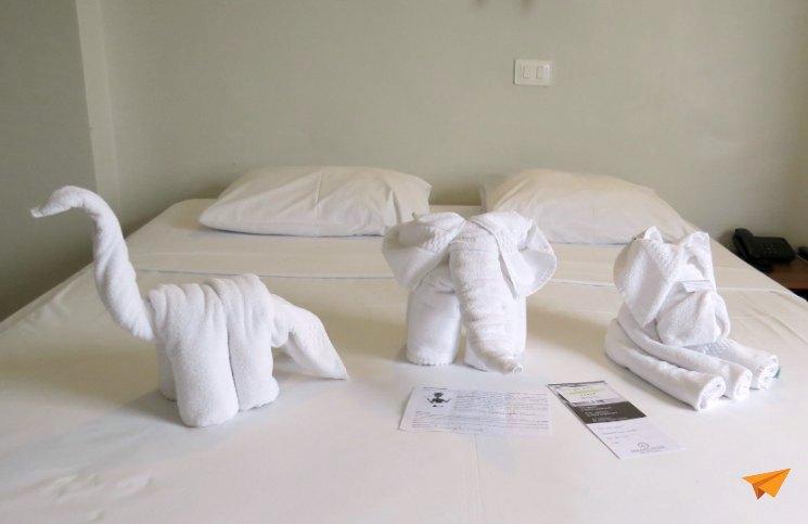 Hotel Economico em Foz do Iguaçu Quarto Decoração Toalhas