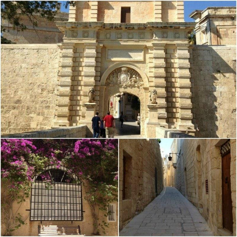 Sozinha em Malta Mdina Entrada e ruas