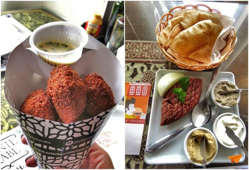 Oriente Arabe Falafel e Kibe Cru | Viajante Solo