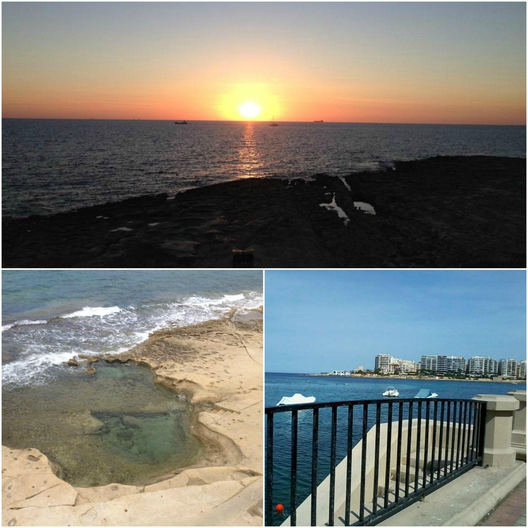 Sozinha em Malta | Sliema landscape