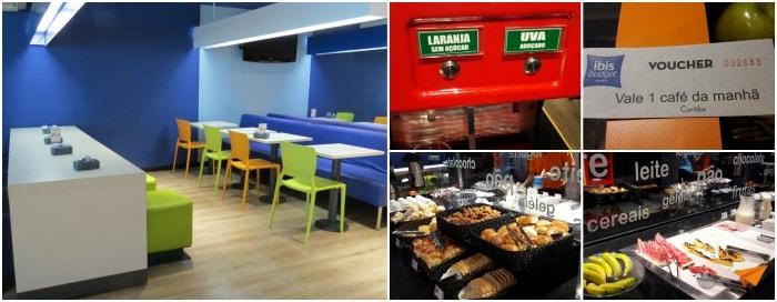Hotel Econômico em Curitiba Ibis Budget Café da Manhã | Viajante Solo