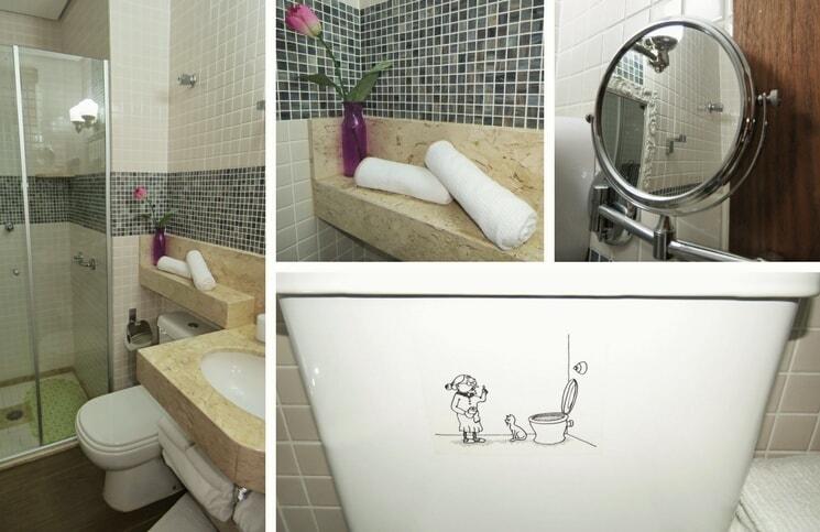 Onde ficar em Porto Alegre Porto Retro Banheiro