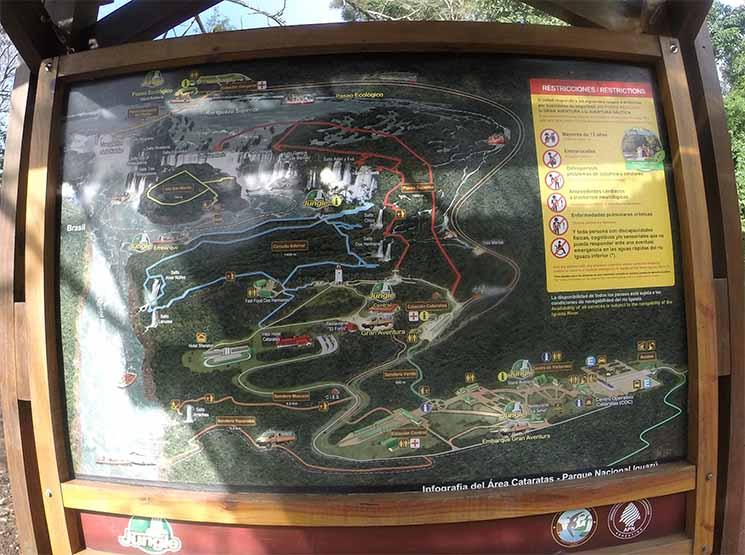 Cataratas Iguazu Mapa do Parque Viajante Solo