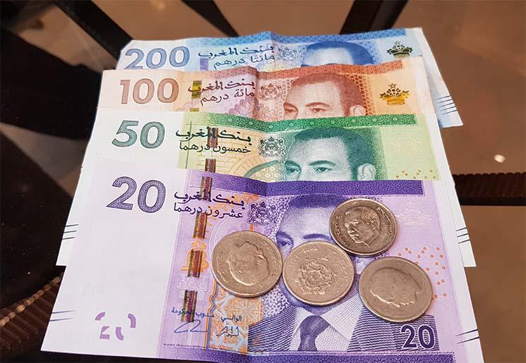 Viajar para o Marrocos Dinheiro Dirham
