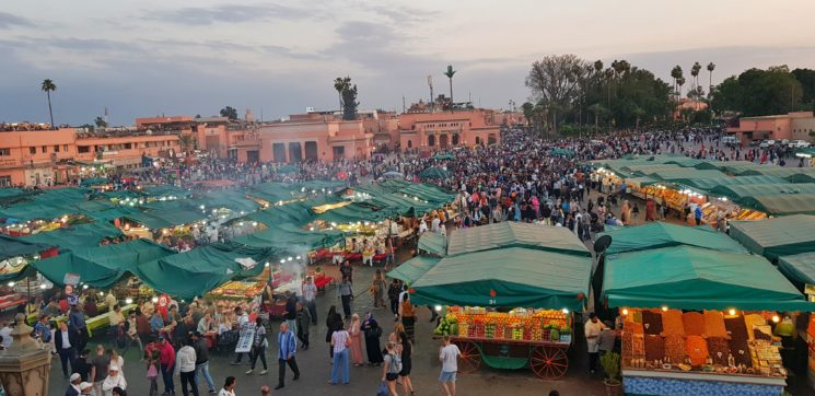Roteiro no Marrocos Praça Jemna El Fna Viajante Solo