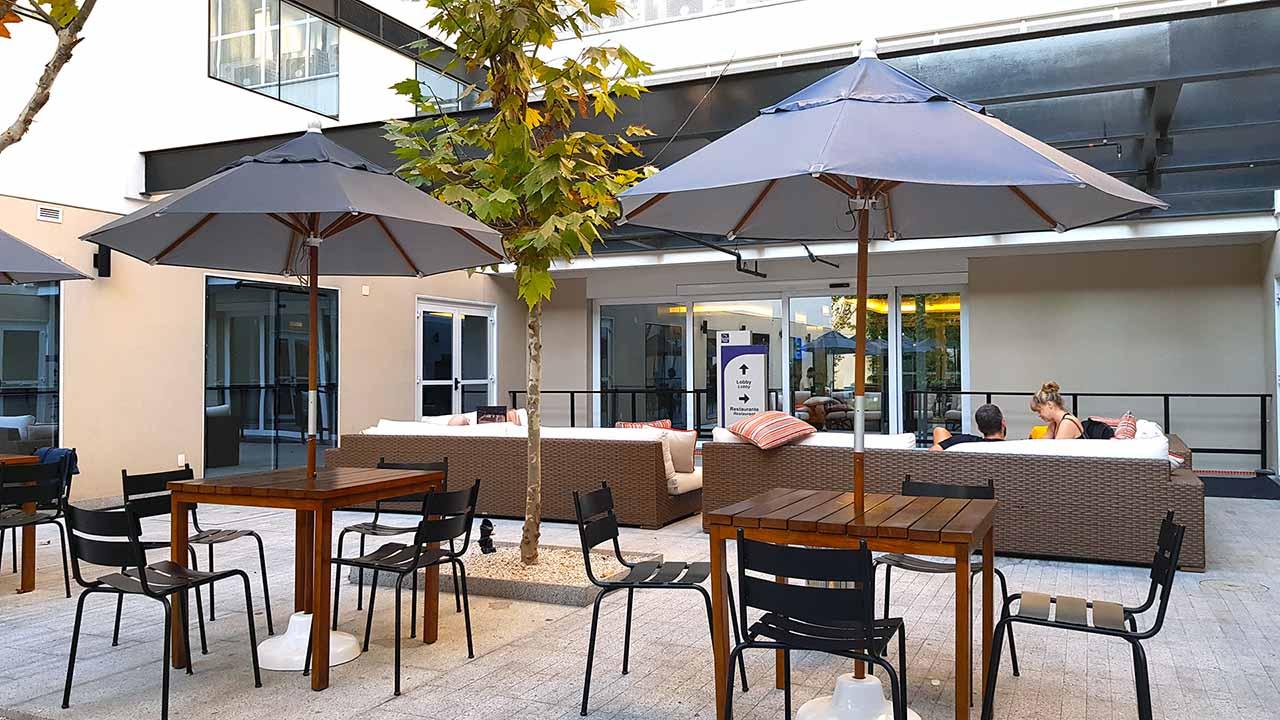 Hotel próximo ao aeroporto de Guarulhos Sleep Inn Lounge Externo