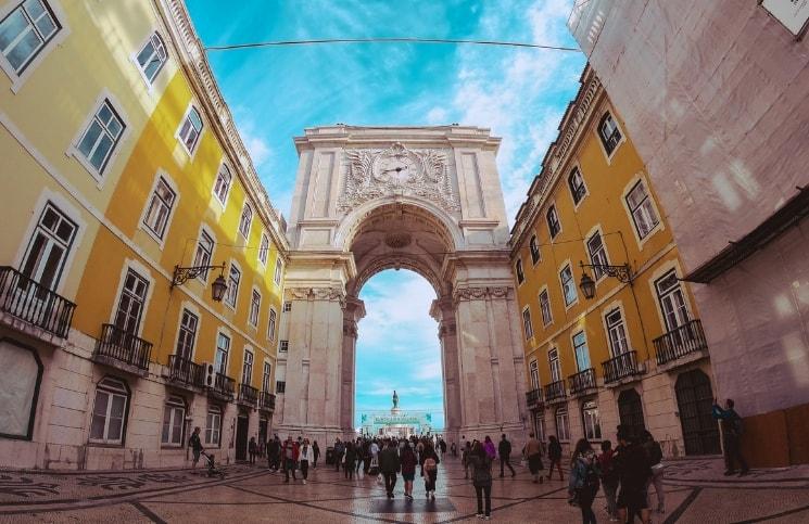 Viajar Sozinha para Lisboa Arco da Rua Augusta