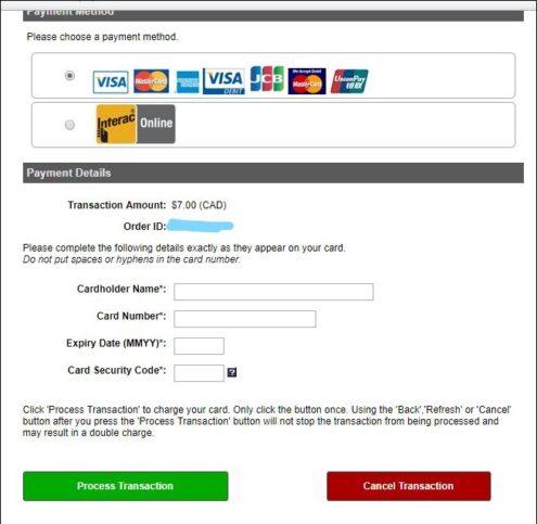 Como solicitar o eTA para entrada no Canadá Forma de Pagamento