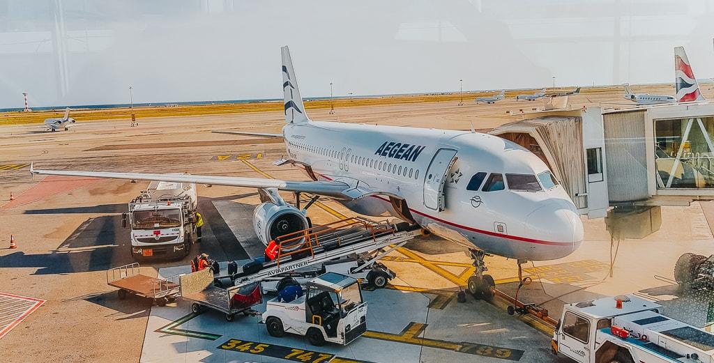 Viajar Sozinha para a Grecia Aegean Airlines