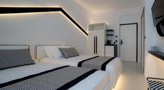 Divelia Hotel, hospedagem na praia de Perissa