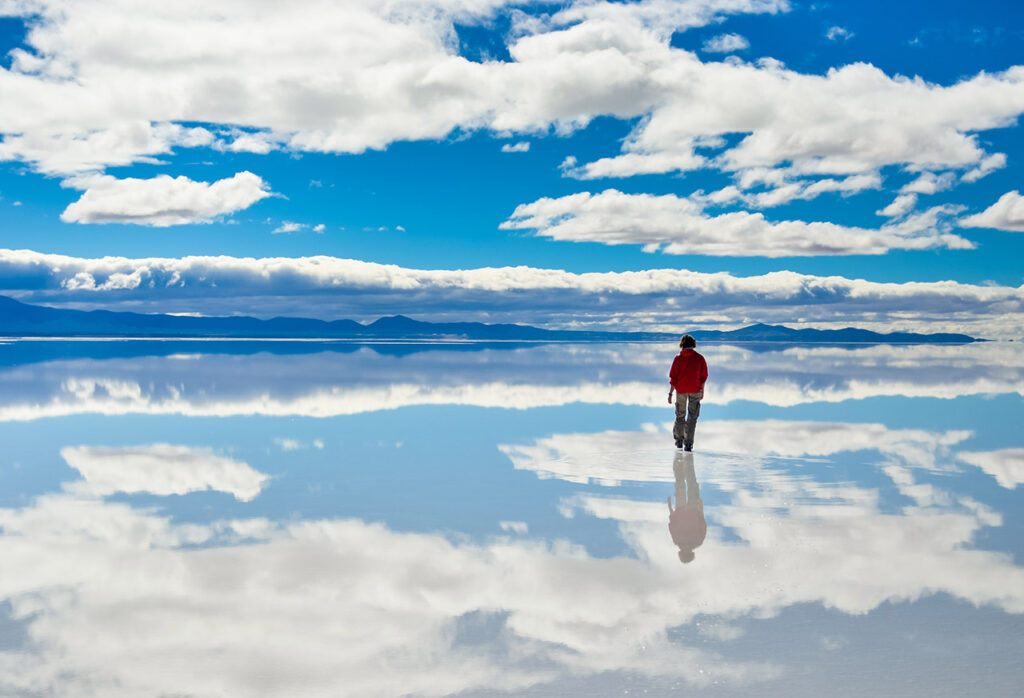 Países para viajar sozinha e sem passaporte: Salar de Uyuni, Bolivia