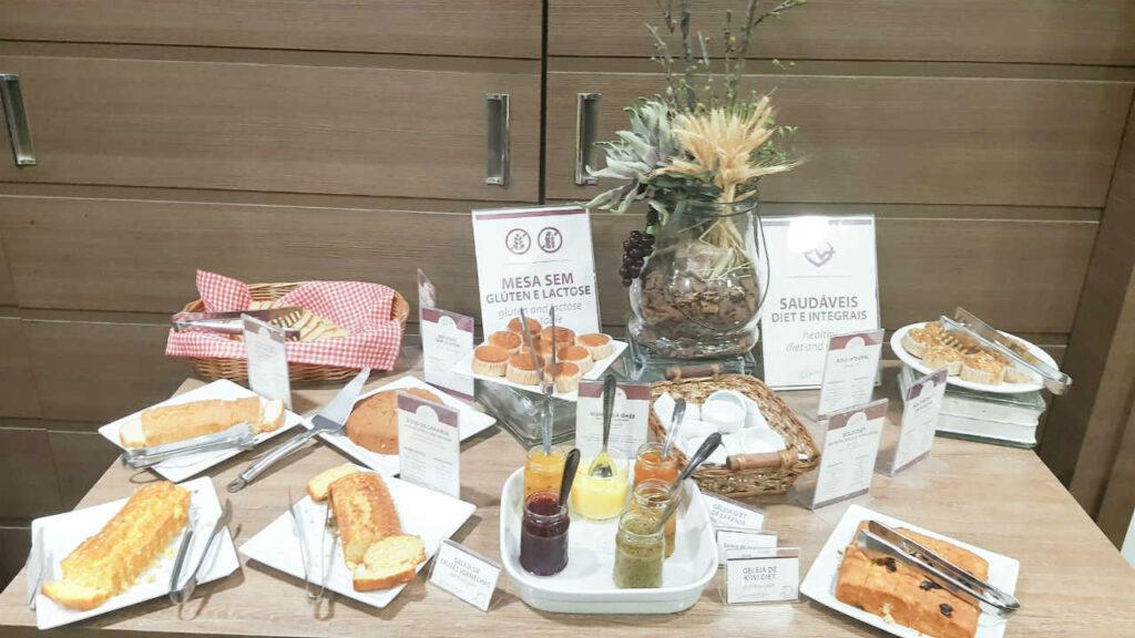 Dall Onder Grande Hotel Café da Manhã Mesa com Produtos sem Lactose