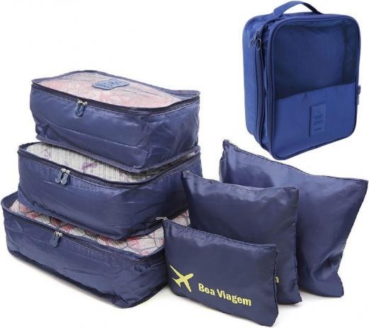 Use organizadores na arrumação da sua mala