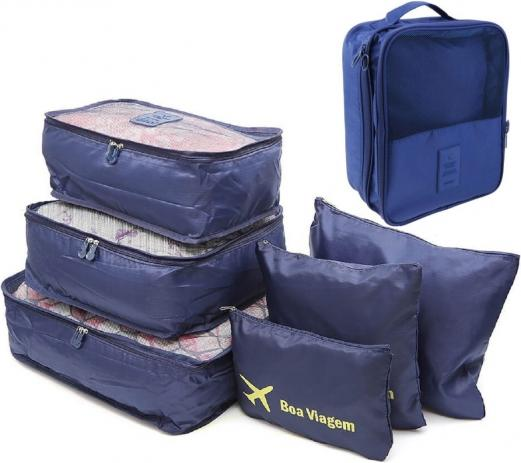 Use organizadores na para arrumar a sua mala de Inverno