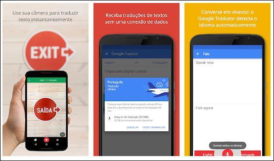 aplicativos de tradução para sua viagem sozinha Google Tradutor