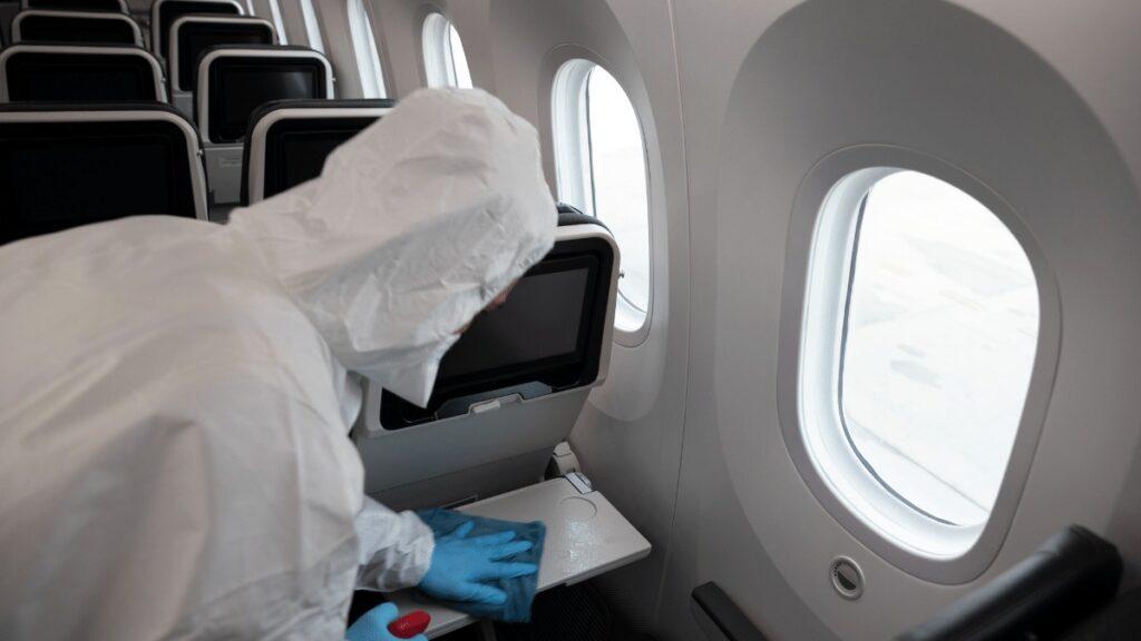 Viajar Sozinha Durante a Pandemia Higienização das Aeronaves
