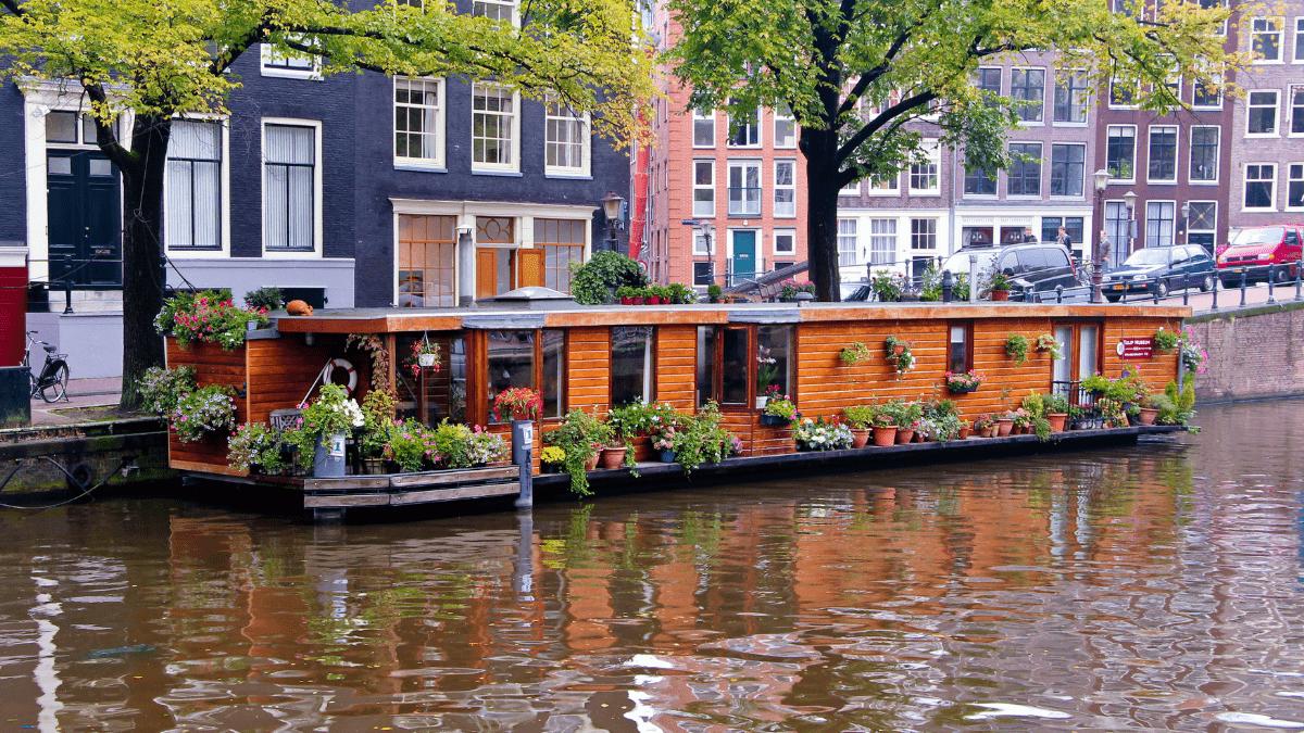 Casas Flutuantes e o Houseboat Museum