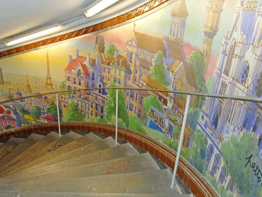 Escadas do Metrô Abbesses
