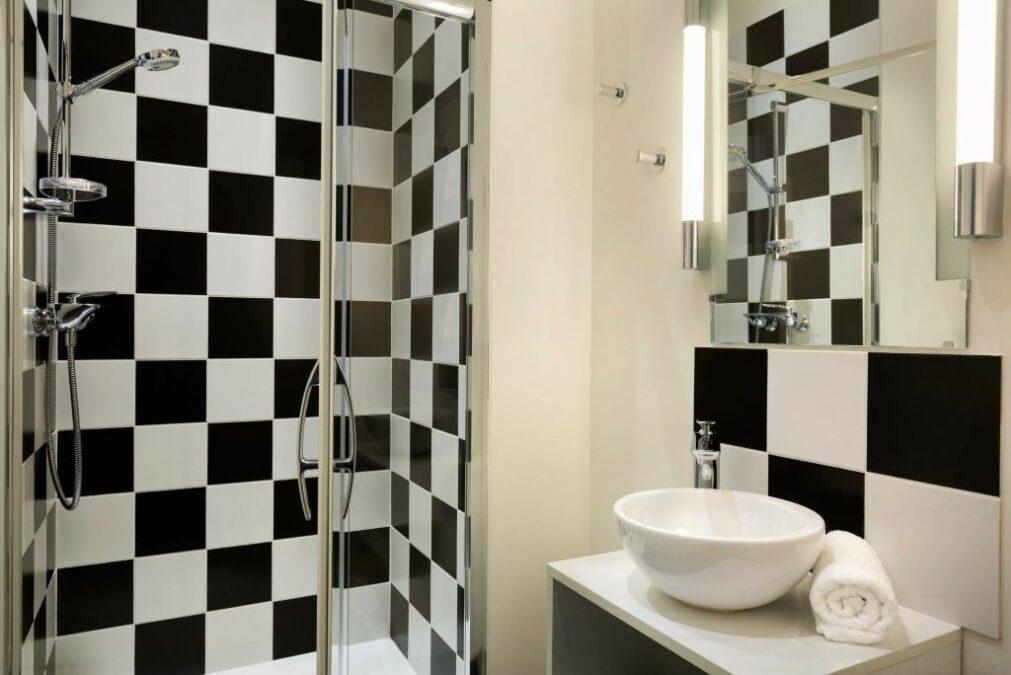 Banheiro do Hotel Byakko, quarto Standard para 1 pessoa