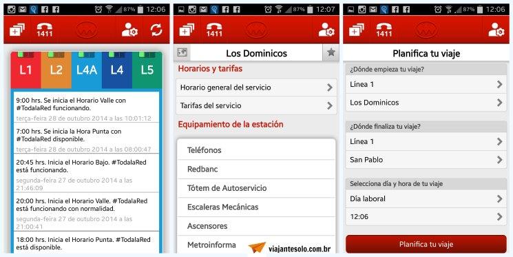 App Metro Santiago Telas | Viajante Solo